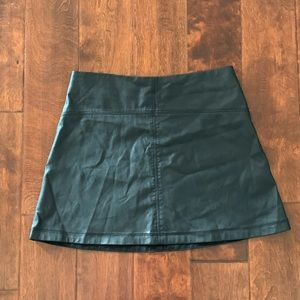Abercrombie & Fitch Black Faux Leather Mini Skirt
